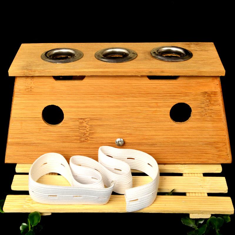 竹制三孔灸盒 带绑带 多功能灸盒 多空可选厂家直销